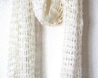 Crochet Scarf Shawl Lace Mohair