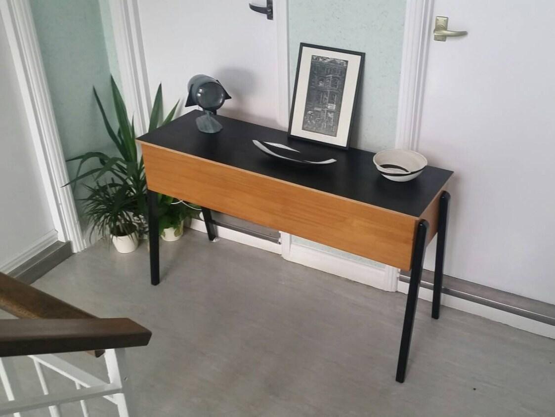 Vintage Mid Century Credenza Sideboard Sofa Table Desk Piano