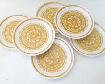 Casablanca Cavalier Ironstone Dessert/Bread Butter Plates - 6