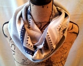 3-in-1 Infinity Scarves - Navy and Grey