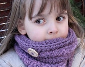 CROCHET PATTERN for Kasey kitty Cowl - Toddler, Child and Adult sizes // Cat Kitten Hat Cowl Scarf
