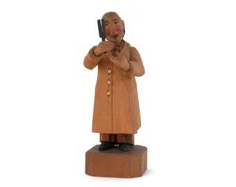 Anri Doctor Ear Nose and Throat  Italian Wood Carving ENT Specialist