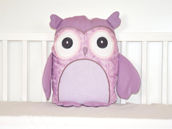 Stuffed owl, Owl doll, Plush owl, Pink and Purple, Plushie  Owl, Fabric Owl Toy, Owl Softie, Patchwork Owl, Cloth Owl Toy, Woodland Hoot Owl