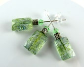 Set  3 Green Crackle Stitch Markers, Cross Stitch Counting Pins, Needlepoint, Crystal Stitching Pins