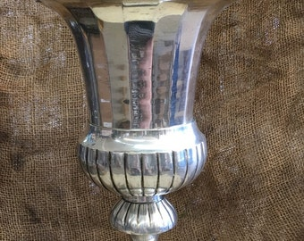 Large Silver Plate Challis Urn