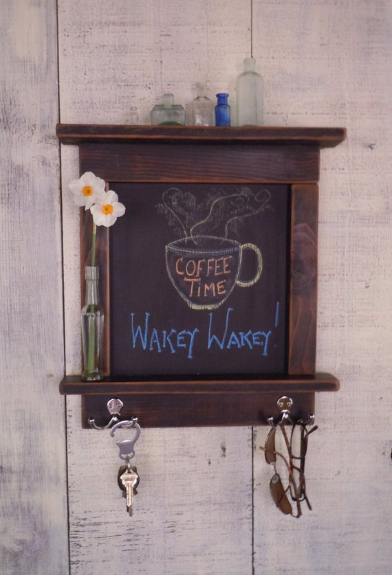 country kitchen chalkboard items similar to kitchen chalkboard with shelves mini 2755