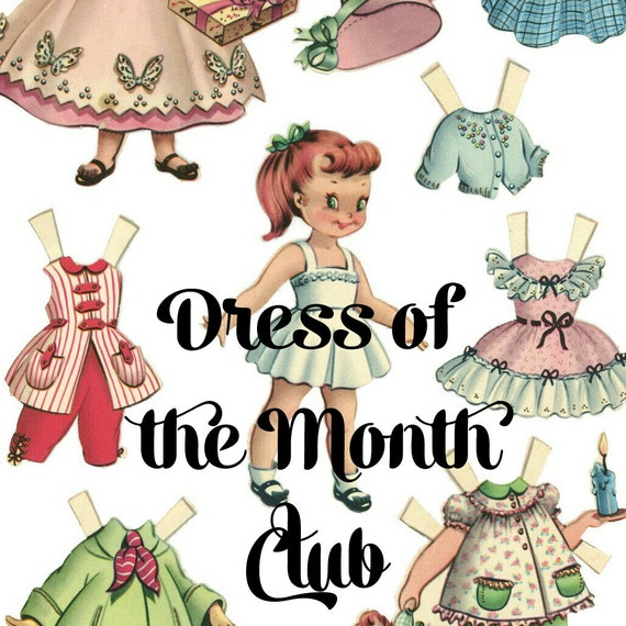 Baby Gift Of The Month Club : Items similar to dress of the month club girls clothing