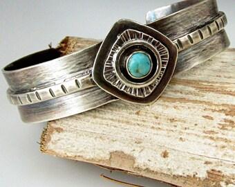 Silver Cuff Bracelet for Women, Turquoise Jewelry, Southwest Jewelry