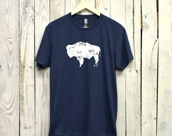 Bison Shirt. Wyoming Shirt. Buffalo Shirt.