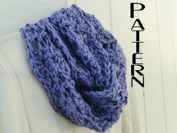 Crochet PATTERN Chunky Lace Infinity Scarf Pattern DIY Circle