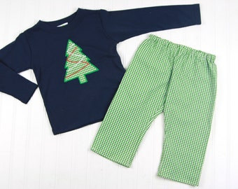 Boy christmas outfit | Etsy