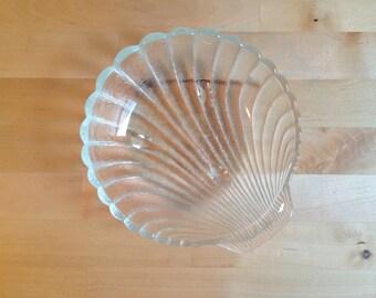 Vintage Seashell Bowl - Glass Shell - Mermaid Decor - Home Decor - Nautical - Beach - Bathroom - Ocean