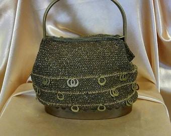 Crocheted 1960's Handbag