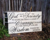 God Grant me the Serenity Courage Wisdom Prayer Large Pallet Style Sign 18x30
