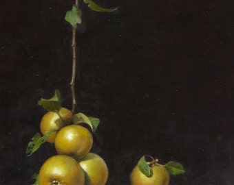 Original oil painting apples still life