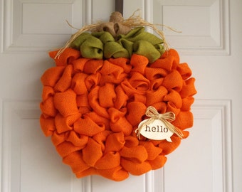 "20"" pumpkin wreath/Fall wreath"