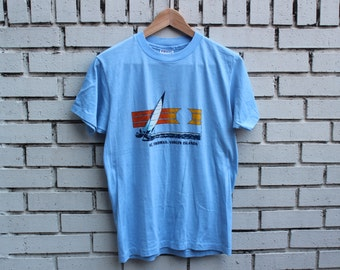 Vintage ST. THOMAS Shirt Vacation Tourist Vtg Old School Resort Spot Caribbean Tourism Virgin Islands