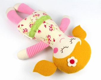 baby doll   soft baby toy    Rosie doll    first doll    baby rag doll    baby shower gift