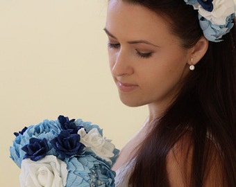 Flower crown flower headband wedding crown bridal crown bridal headband bridal wreath wedding wreath paper crown paper flower headband hair