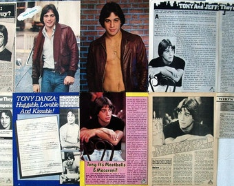 TONY DANZA ~ Taxi, Who's The Boss, Family Law, She's Out of Control, Don Jon ~ Color and B&W Articles, Pin-Ups from 1978-1979