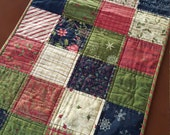 Beautiful Christmas,  handmade, quilted table runner, holiday