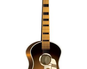 Vintage Guitar Clip Art - Guitar Clip Art - Guitar Image - Vector Guitar - Guitar - Vector Guitar Image - Guitar AI