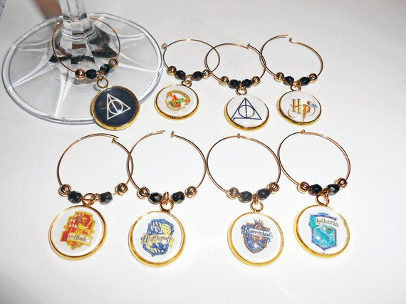 unique wine glass charms harry potter wine charms by nancybaha