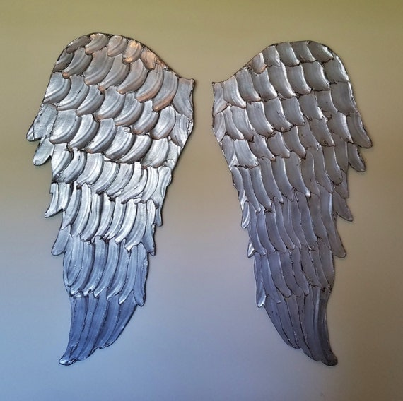 Metal Wall Decor Clearance : Angel wings wall art clearance price carved by