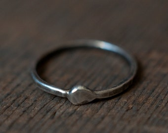 Ouroboros ring, sterling silver ring, stacking ring, thumb ring, pinkie ring, knuckle ring, gender neutral and unisex, KREIS collection.