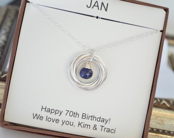 70th Birthday Gift For Grandma September Birthstone