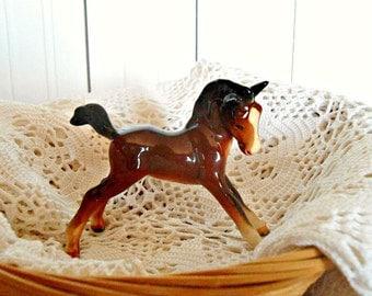 Vintage Beswick Foal - Brown Horse Foal Figurine