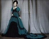 Evening Party OOAK handmade dress set for bjd dollfie sd16 soom supergem clothing clothes historical edwardian victorian style