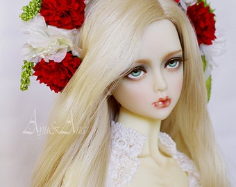 Precious Song flower handmade headband wreath corolla for bjd dollfie sd blythe 8-11 inch size dolls heads
