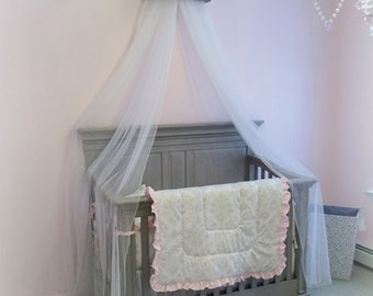 Bed crown canopy crib crown nursery design by acreativecottage for Nursery crown canopy