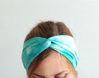 fashion turban aqua blue twist headband birkam yoga turband head wrap bohemian gipsy jersey womens headbands beach headband head cover