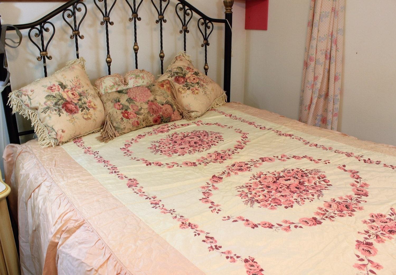 Vintage Bedspread 1960 S Blanket Twin Full Size Shabby