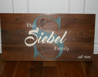 Custom Family / Last Name / Personalized / Wood Sign, size 12x24