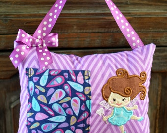 Tooth Fairy Pillow-Purple & Blue