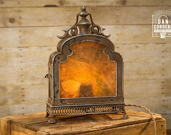 Vintage Paris Map Lantern Table Lamp