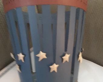 Vintage Americana Metal Basket