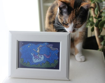 mini framed canvas - catching dreams