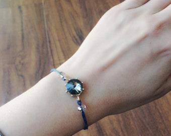 Crystal Friendship Bracelet - Navy