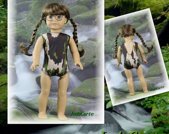 Camouflage Doll Leotard/Swim Suit for American Girl Doll
