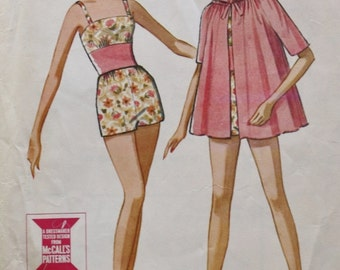 1960s Lined Bathing Suit Sewing Pattern/ Swim Suit / Raglan Sleeve /Beach Coat/ McCall's 6861 /Vintage Pattern/ Bust 31