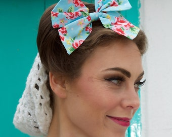 Large Floral Hair Bow