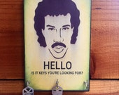 """BUY 1 get 1 FREE Key Holder Today LiONEL RitCHIE Key Holder & Wood Mounted Wall Art """"HELLO, Is It Keys You're Looking For?"""" 2 Sizes Avail"""