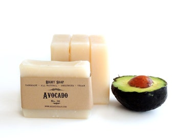Avocado Soap,Dry Skin Natural soap, Moisturizing Soap, Handmade Soap, Stocking Stuffer, Christmas Gift, Gift For Her