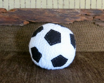 Baby Toy, Soft Round Soccer Ball, Baby Shower Gift For A Boy Or Girl, Plush Baby Ball, Hand Knitted Toy For Children's Games