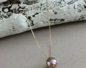 Long Pearl Necklace-Pearl...