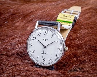 Luch mens watch, Vimpel mens watch, Black white watch, Retro mens watch, Russian mens watch, Vintage mens watch, Ussr watch, Cccp watch